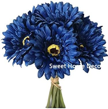 6X Artificial Silk Gerbera Daisy Flower Fake Bouquet Home Fashion Wedding Q1J3