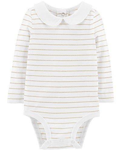 Osh Kosh Baby Girls' Bodysuits, Gold Lurex, 12-18 Months (Bodysuit Baby Gold)