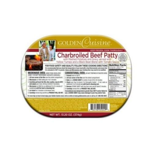 Conagra Entree Golden Cuisine Charbroiled Beef Patty and Gravy, 13.7 Ounce -- 20 per case.