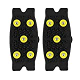 Susenstone® Hot Snow Ice Climbing Anti Slip Spikes Grips Crampon Cleats 5-Stud Shoes Cover