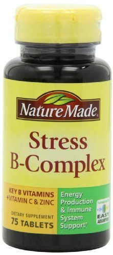 Nature Made Stress B Complex with Zinc Tablets, 75 Count (Pack of 2) (Formula Vitamin B-complex)