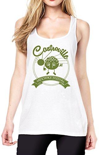 Castroville Fest Tanktop Girls White Certified Freak