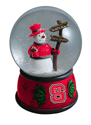 The Memory Company NCAA North Carolina State University Christmas Snow Globe, One Size, Multicolor
