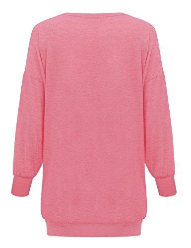 Yidarton Rose Tunique Casual Sexy Femme Col Pullover Longues Taille Manches V Shirt Longue Grande T Blouse Robe rradYq