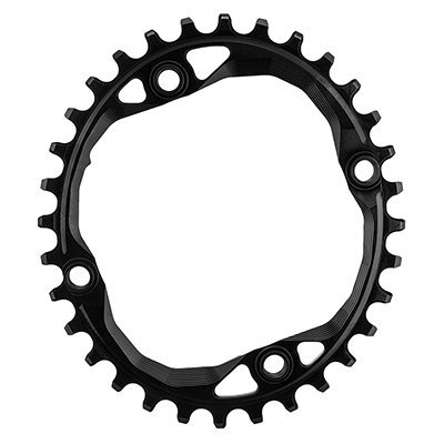 ABSOLUTE BLACK SRAM Oval Traction Chainring Black/104 BCD, 32t/Threaded