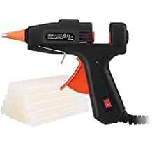 Hot Glue Gun, Tacklife Mini Glue Gun with 30 Pcs Glue Sticks, ON/OFF Switch, Flexible Trigger, Anti-hot Cover for DIY Small Craft and Quick Repairs, 20Watts - GGO20AC