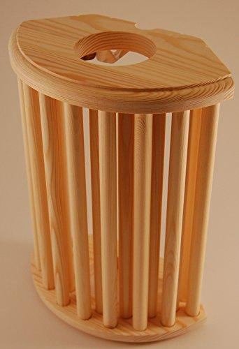 Saunalampe Saunalicht Saunaleuchte Holz Blendschirm Sauna -auch für Eckeinbau !