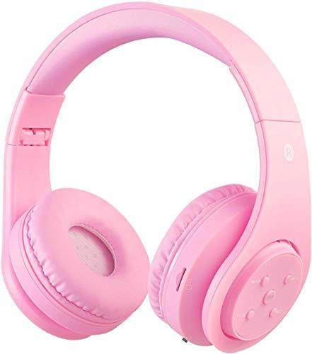Draadloze Bluetooth hoofdtelefoon voor kinderen jongeren vanaf 5 draadloze hoofdtelefoon over oor met volumebegrenzing…