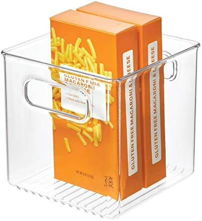 iDesign Cabinet/Kitchen Binz Aufbewahrungsbox, mittelgroßer Küchen Organizer aus Kunststoff, würfelförmige Box, 15,2 cm x 15,2 cm x 15,2 cm, durchsichtig
