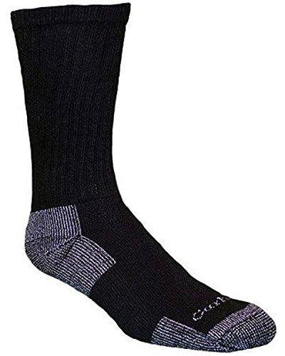 Carhartt Men's 3-Pack Standard A62-3-Black-Medium, Black, Shoe Size: 5-10