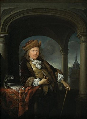 The High Quality Polyster Canvas Of Oil Painting 'Gerrit Dou,Self-Portrait At Age Fifty,1663' ,size: 24x33 Inch / 61x83 Cm ,this Reproductions Art Decorative Prints On Canvas Is Fit For Foyer Decor And Home Gallery Art And Gifts