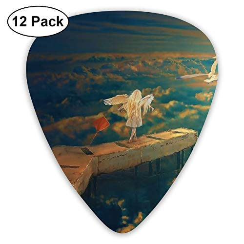 V5DGFJH.B Art Seagulls Kites and Wings Girl Classic Guitar Pick Player's Pack for Electric Guitar,Acoustic Guitar,Mandolin,Guitar Bass