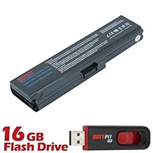 Battpit Bateria de repuesto para portátiles Toshiba Satellite L655-158 (4400 mah) Con memoria USB de 16GB GRATUITA