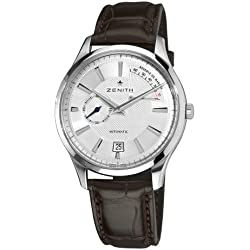 Zenith Men's 03.2120.685/02.C498 Elite Captain Power Reserve Silver Dial Watch