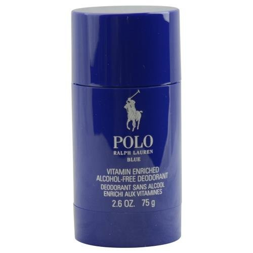 POLO BLUE by Ralph Lauren DEODORANT STICK ALCOHOL FREE 2.6 OZ for MEN ---(Package Of - Polo 2 Lauren Ralph
