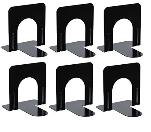 Bookend Supports - Business Source - Black (6 Pairs, Small) by Business Source