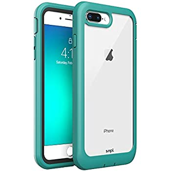 SMPL iPhone 7/8 Plus Drop Proof, Lightweight, Protective Wireless Charging Compatible iPhone Case - Teal