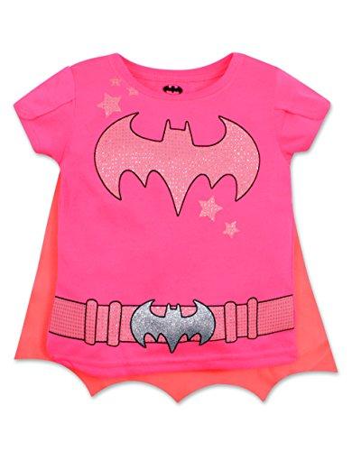 Toddler Girls' Batgirl Shirt with Cape (4T)