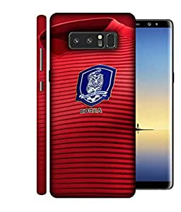 ColorKing Football South Korea 08 Red shell case cover for Samsung Note 8