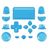 MODFREAKZ™ PS4 New Version JDM-030 Thumbsticks Dpad R1L1 R2L2 Share Option Home Buttons Touch Pad Solid Light Blue For 2nd Gen Controller
