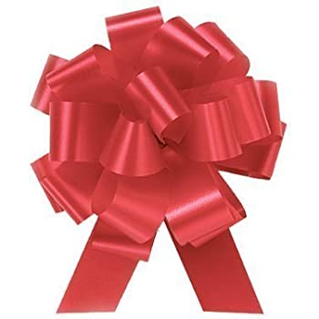 Amazon Com Large Red Ribbon Pull Bows For Christmas Gifts