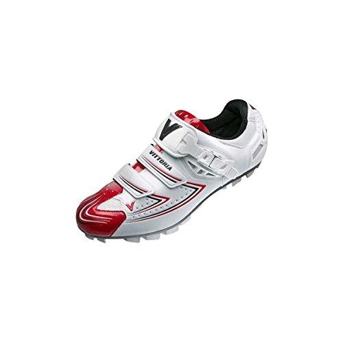 Vittoria zapatos stelt zapatos blanco y rojo