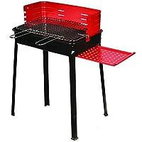 Grill schwarz XXL Grill günstig kaufen Balkon Camping Picknick ✔ eckig ✔ tragbar ✔ stehend grillen ✔ Grillen mit Holzkohle