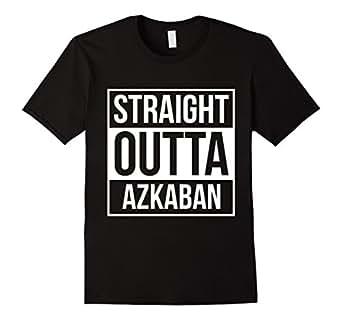 Men's Straight Outta Azkaban t shirts tshirts tees 3XL Black