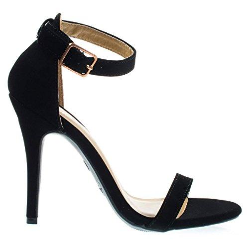 Delicatezza Tacco Alto Stiletto Open Toe Vestito Sandalo Con Cinturino Alla Caviglia 11-b; Acl