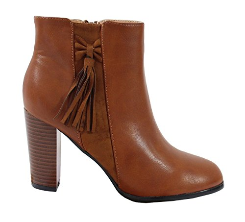 Femme Cuir Bottine Shoes By Indien Style Effet q44YH0