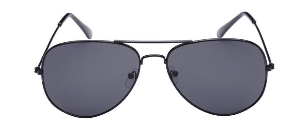 Dosige Vintage Aviator Metal Sunglasses (Black)