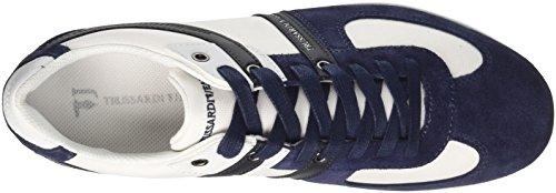 Trussardi Jeans 77a00068, Sneaker a Collo Basso Uomo Blu Navy
