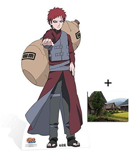 Fan Pack - Gaara from Naruto Shippuden Lifesize Cardboard Cutout / Standee / Standup - Includes 8x10 (20x25cm) Photo (Anime Cardboard Cutouts)