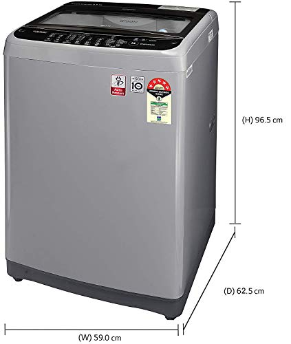 LG 9.0 Kg 5 Star Smart Inverter Fully-Automatic Top Loading Washing Machine (T90SJSF1Z, Middle Free Silver, Jet Spray+) 2021 June Fully-automatic top load washing machine: Best Wash Quality, Energy and Water efficient Capacity 9.0 Kg: Suitable for large families Energy rating 5: Best in class efficiency