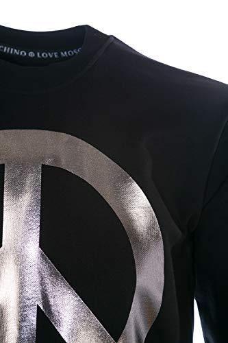 Logo Metallic Peace Top Sweat Black Moschino In x0zA0