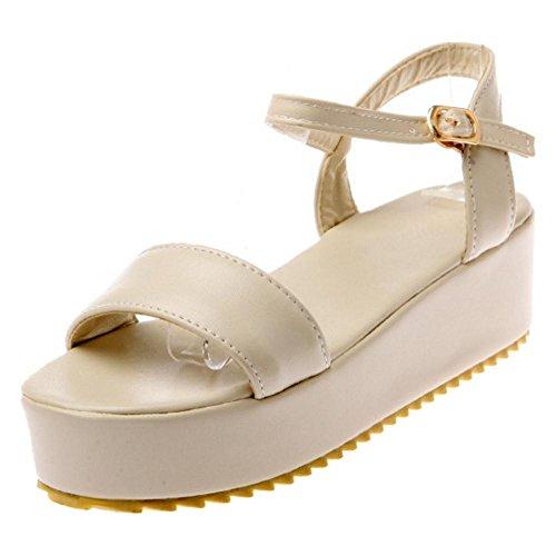 Sandals Shoes apricot Women's Flatform TAOFFEN 6qSPgwE6
