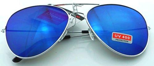 JUJU MALL-Unisex Vintage Retro Women Men Glasses Aviator Mirror Lens Sunglasses - Style Jenner Kylie Edgy