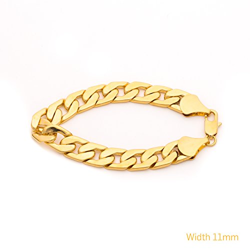 Best Cuban Link Bracelet 11mm, Flat, Wid - Make Metal Bracelets Shopping Results