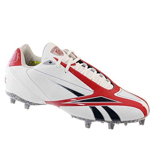 Reebok PRO Burner SPD III Low M3 Mens Football Cleats White RED 12.5