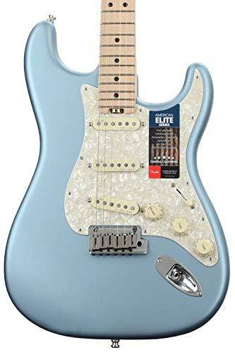 Fender American Elite Stratocaster - Satin Ice Blue Metallic w/Maple Fingerboard ()
