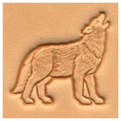 Springfield Leather Company Wolf 3D Leather Stamp Right Facing