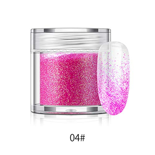 ( Orcbee  _10g Glitter Holographic Iridescent Nail Art Wine Glass Crafts Decorating (D))