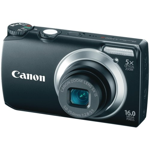 Canon Powershot A3300 16 MP Digital Camera with 5x Optical Zoom (Black) (OLD MODEL) by Canon