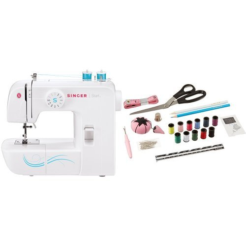 Singer 1304 Start Free ArmHandy Sewing Machine with 6 Built-In Stitches & Singer 1512 Beginners Sewing Kit, 130 pieces