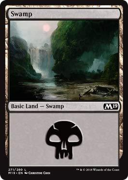 Magic: The Gathering - Swamp (272) - Foil - Core Set 2019 ()