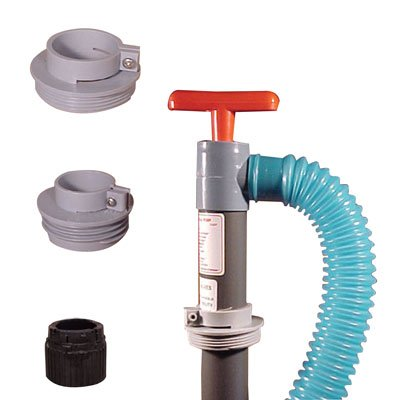 Industrial Hand Pump with 6'Discharge Hose & Standard 2inch IPS Bung Fine Thread Adapter by Beckson