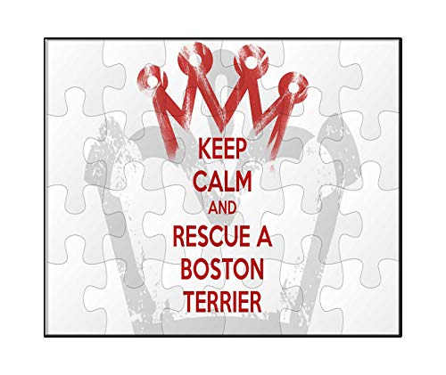 Makoroni - Keep Calm and Rescue A Boston Terrier - Jigsaw Puzzle, 30 pcs.