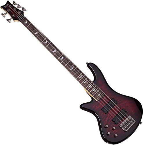 Schecter Stiletto Extreme-5 Bass Guitar (5 String, Left Handed, Black Cherry) 5 String Bass Cherry