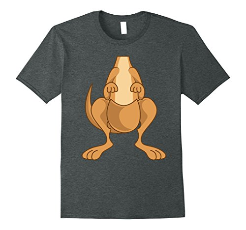 Mens Funny Kangaroo Costume Shirt - Hilarious Halloween Tee Gift XL Dark Heather