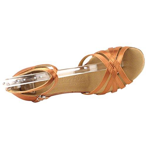50 Nyanser Av Tan Dansskor: Komfort Evening Dress Bröllopspumpar, Balsal Skor För Latin, Tango, Salsa, Gunga, Theather Konst Av 50 Nyanser (2,5 & 3 Klackar) 2613- Tan Satin